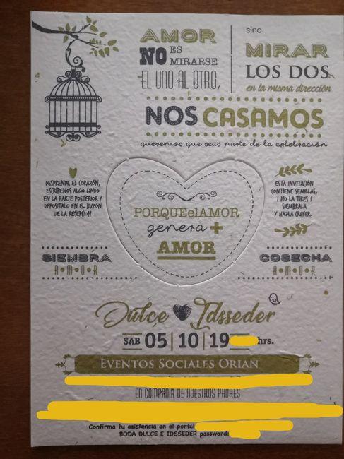 ¡Invitaciones con semillas de manzanilla! 1