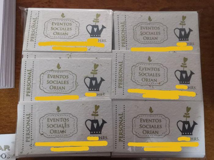 ¡Invitaciones con semillas de manzanilla! 2