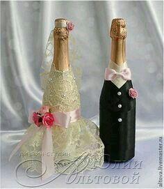Copas y botellas decoradas - 1