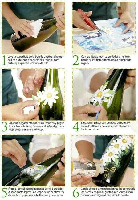 Copas y botellas decoradas - 5