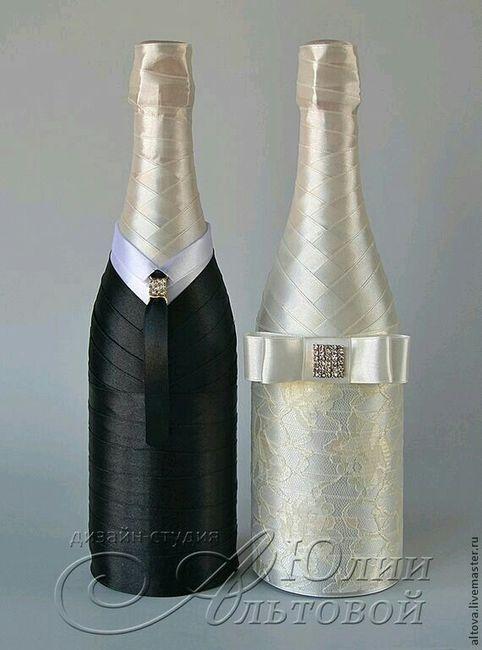 Copas y botellas decoradas - 6