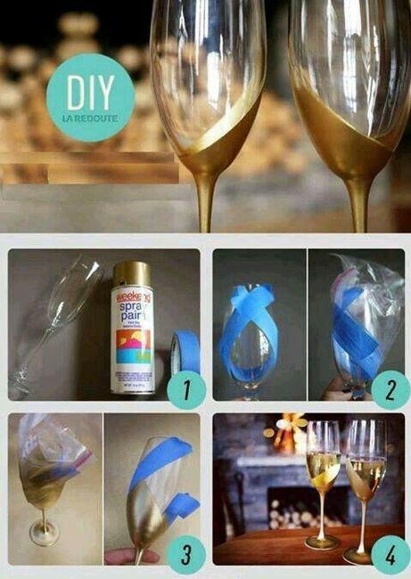 Copas y botellas decoradas - 7