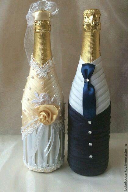 Copas y botellas decoradas - 8