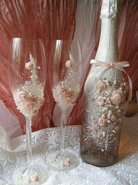 Copas y botellas decoradas - 9