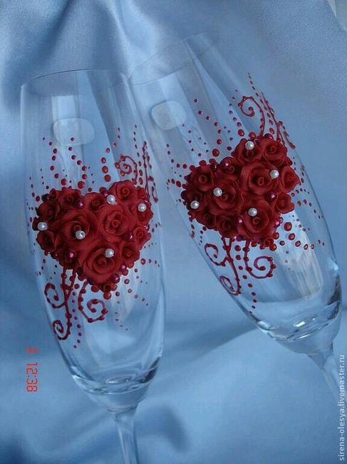 Copas y botellas decoradas - 11