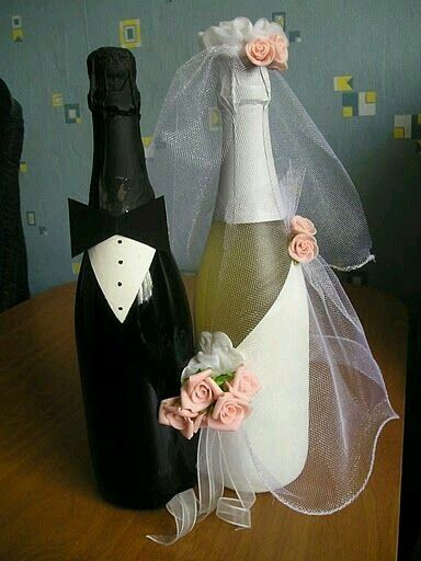 Copas y botellas decoradas - 16