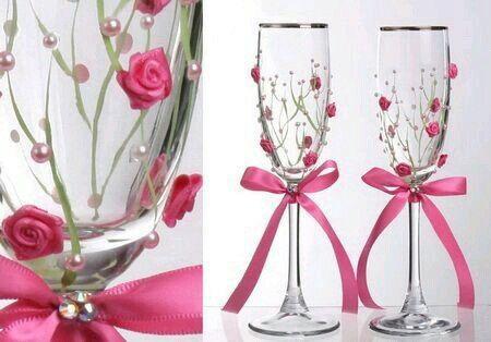 Copas y botellas decoradas - 19