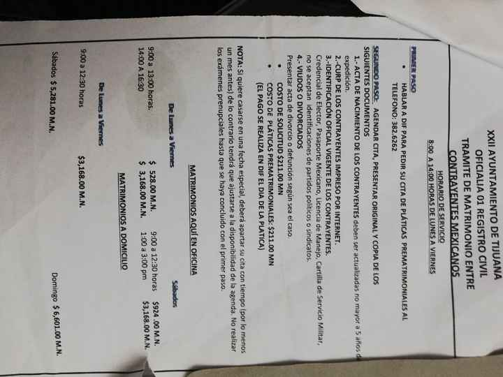 Boda por civil (procedimiento tijuana) - 1