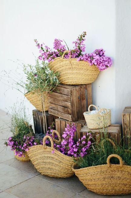 Ideas para decorar con canastitas 🧺 6