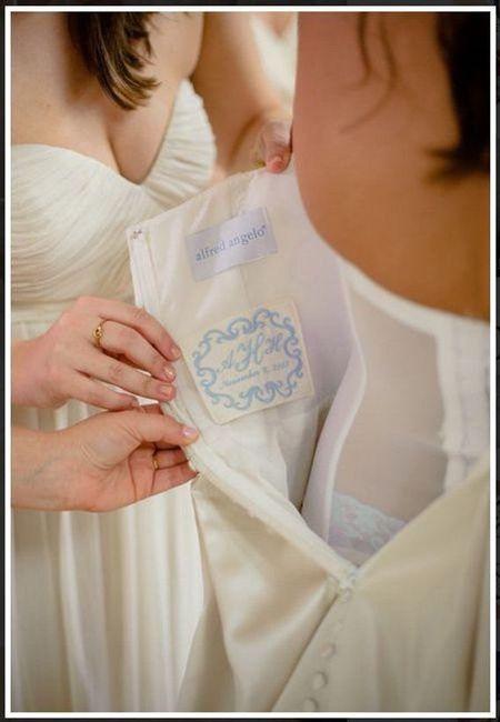 """""""Algo azul"""" bordado al vestido 💙 6"""