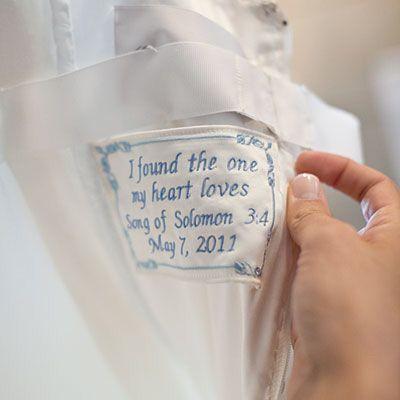 """""""Algo azul"""" bordado al vestido 💙 8"""