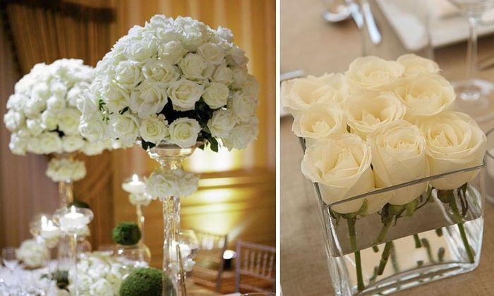 Centros de mesa elegantes foro organizar una boda for Mesa de centro blanca