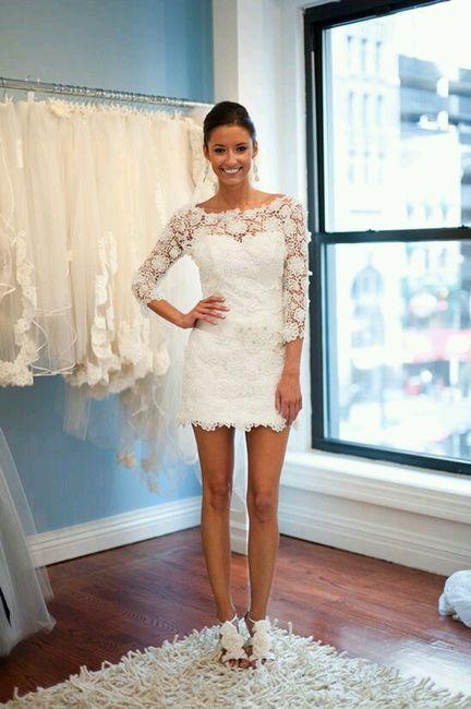 Vestidos de novia por el civil cortos