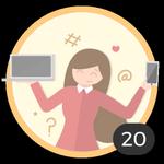 Blogger (20). ¡Ya creaste 20 debates! Internet es tu medio para compartir ideas y dudas con los demás. Presume con esta medalla de ser una auténtica blogger.