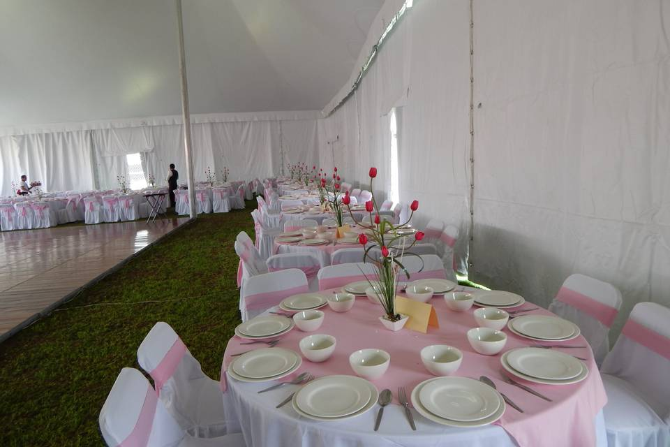 Mesas rosas
