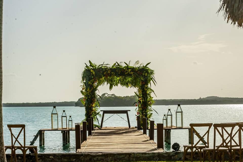 Muelle para ceremonias