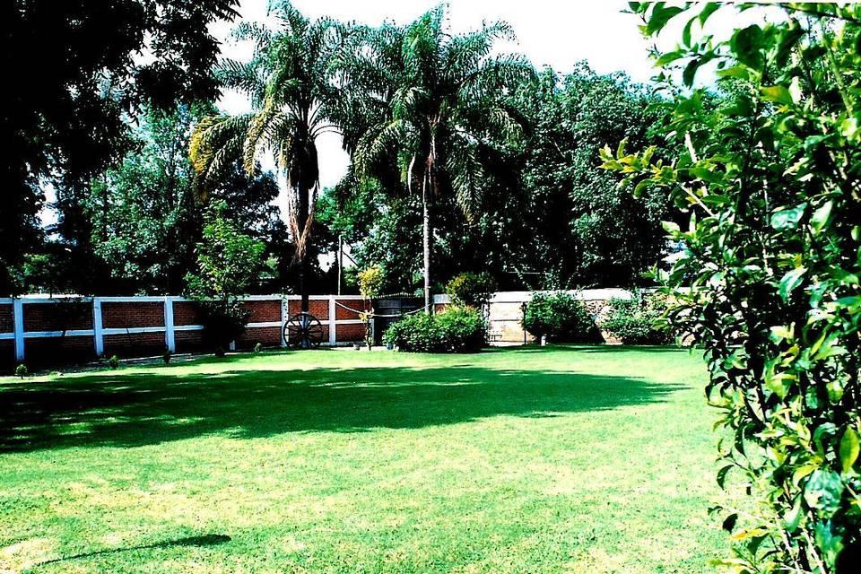 Espaciosos jardines