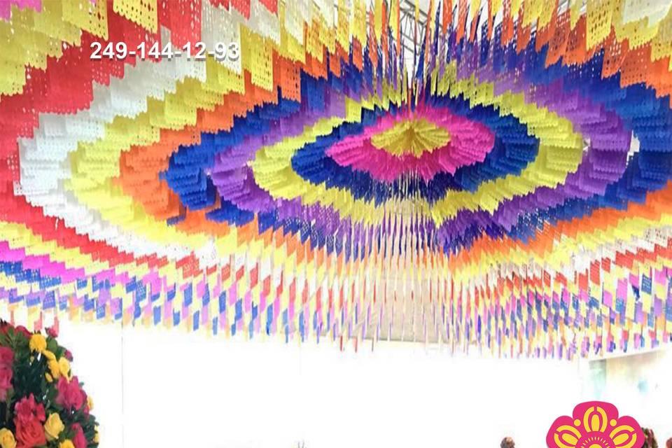 Papel picado multicolor