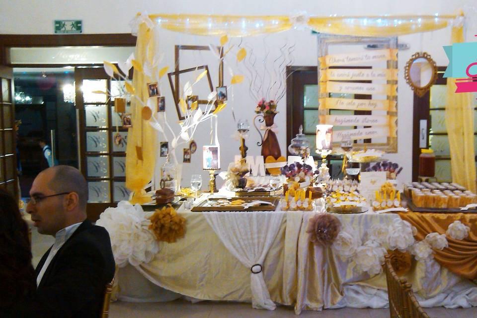 Mesa de dulces picositos