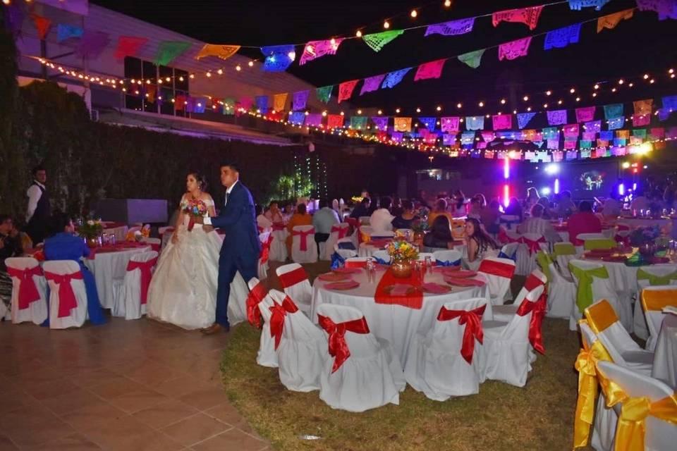 Enramada papel boda