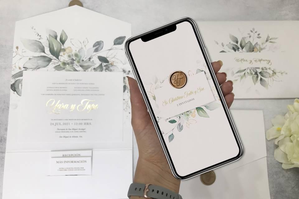 Invitación impresas + digital