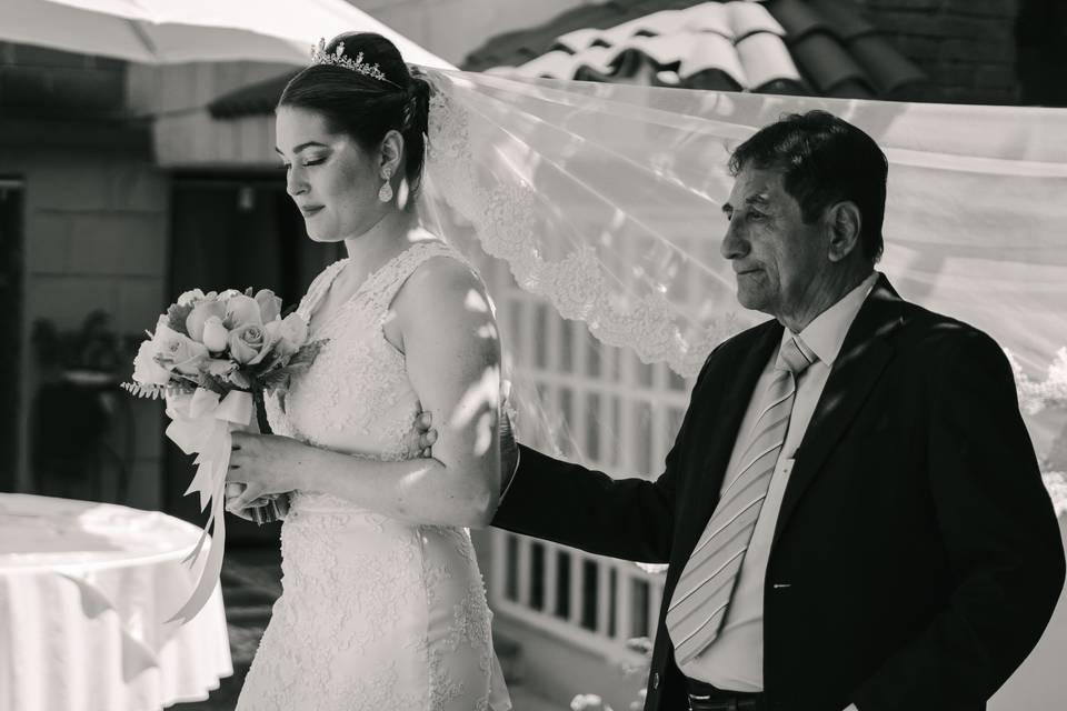Entrega de la novia