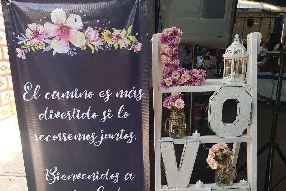Escalera LOVE & banner