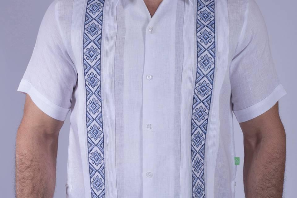100% lino - bordado mayor