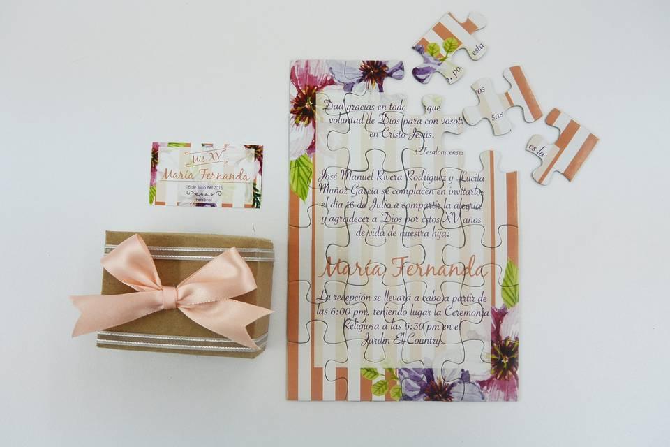 Invitación colorida