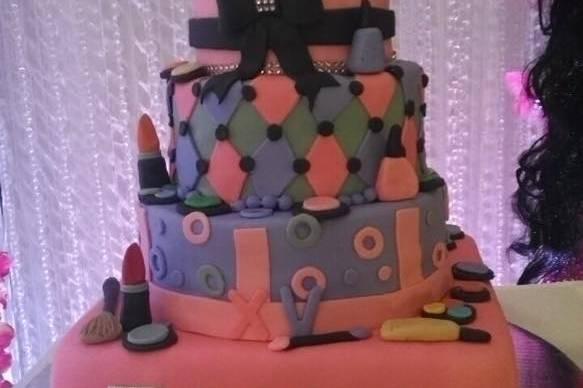 pastel de 4 pisos