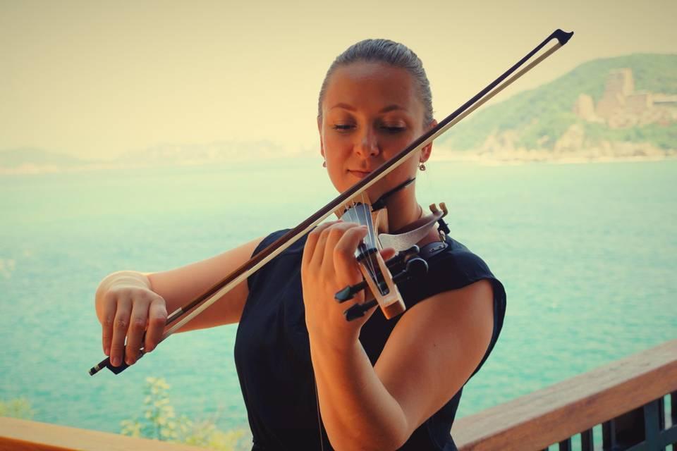 Violinista en Acapulco