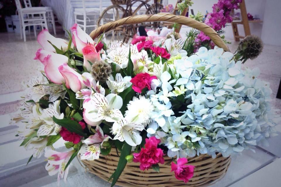 Canasta de flores