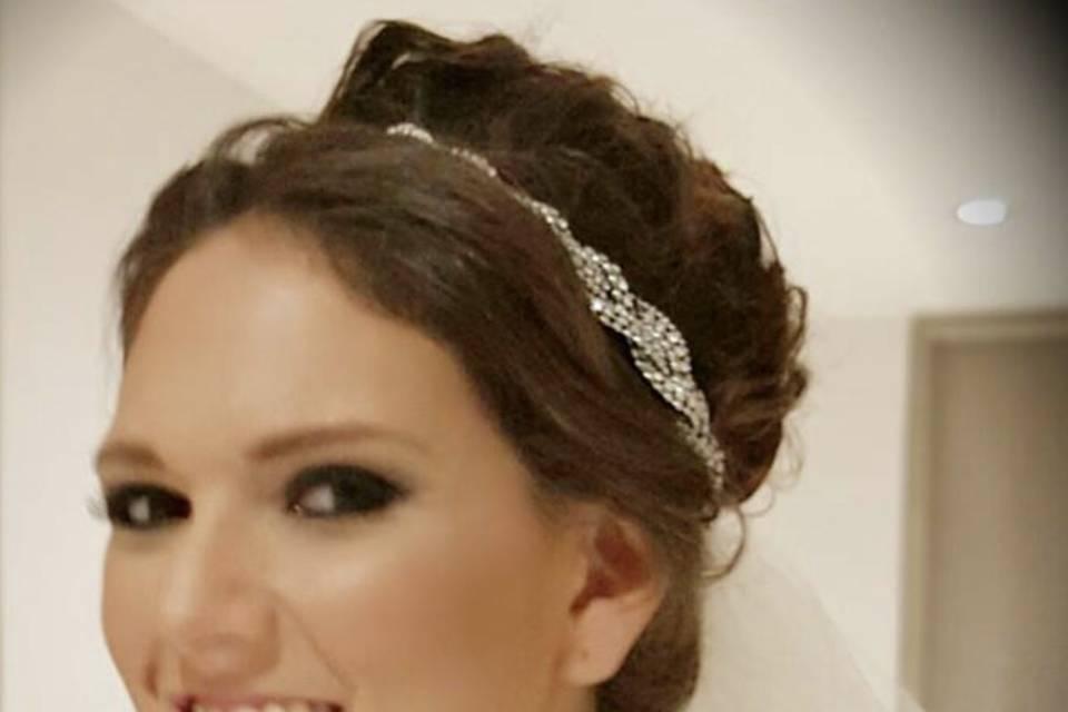 Maquilllaje y peinado novia