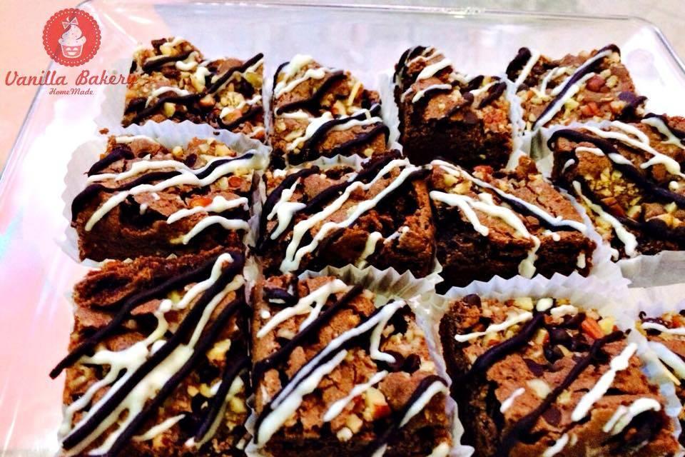 Mini brownie triple chocolate