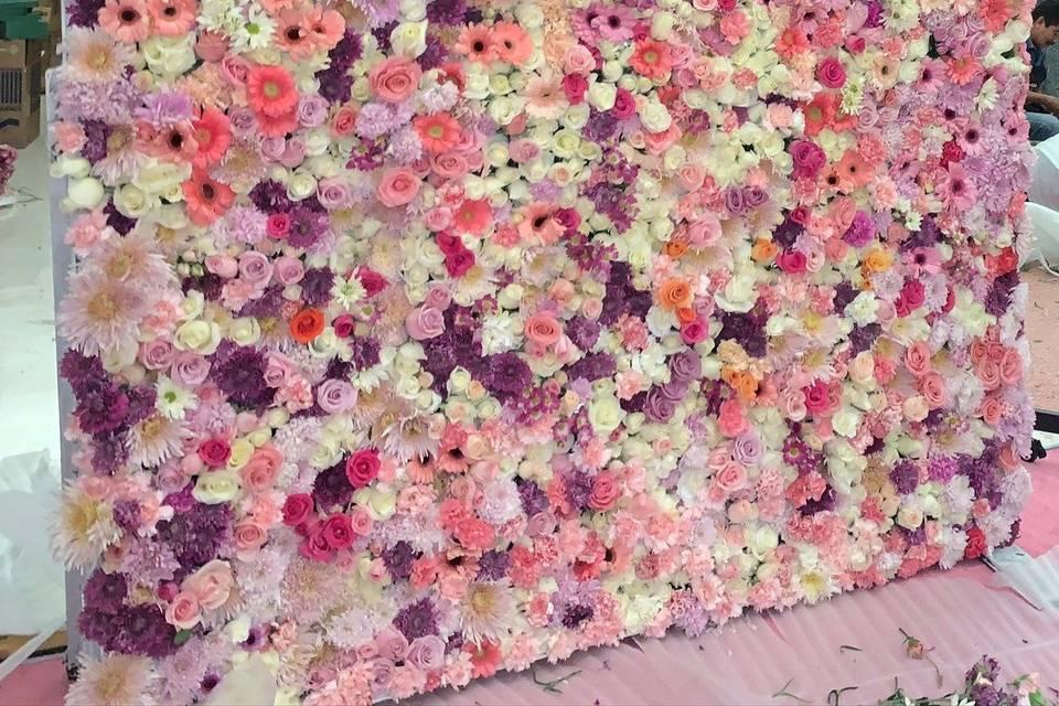 Wall de flores