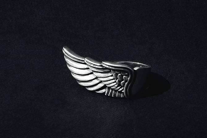 Anillo ala de plata