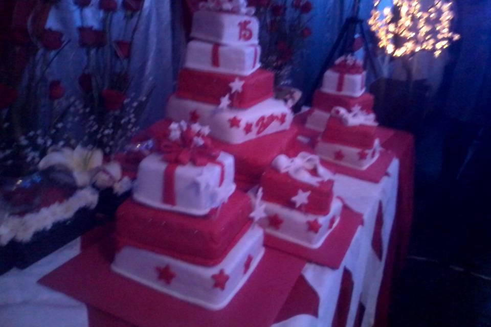 Pastel para 300 personas