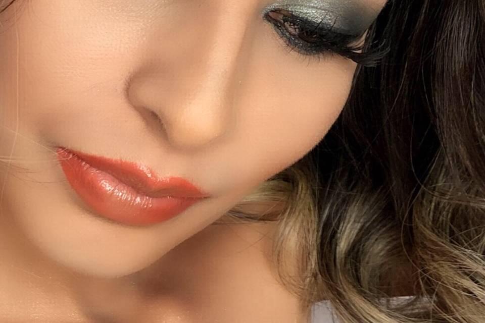Maquillaje sombras verdes