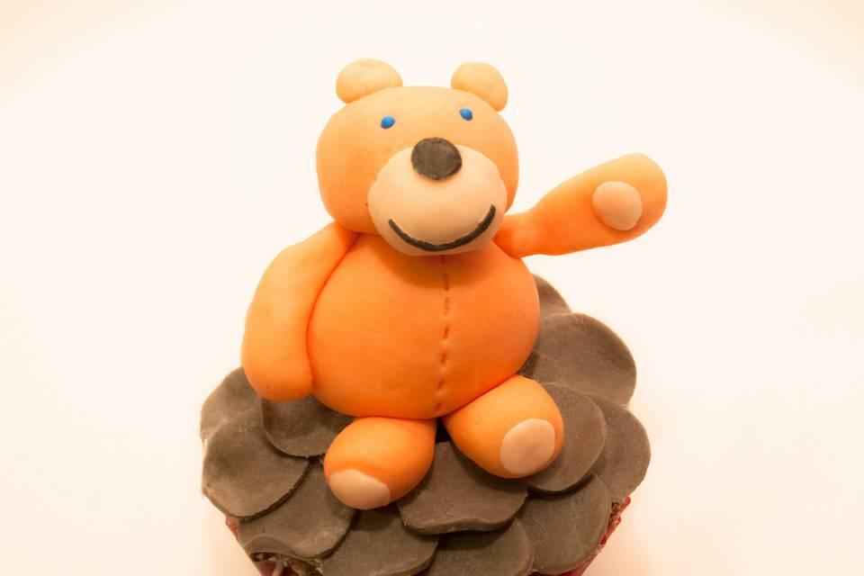 Cupcake de oso