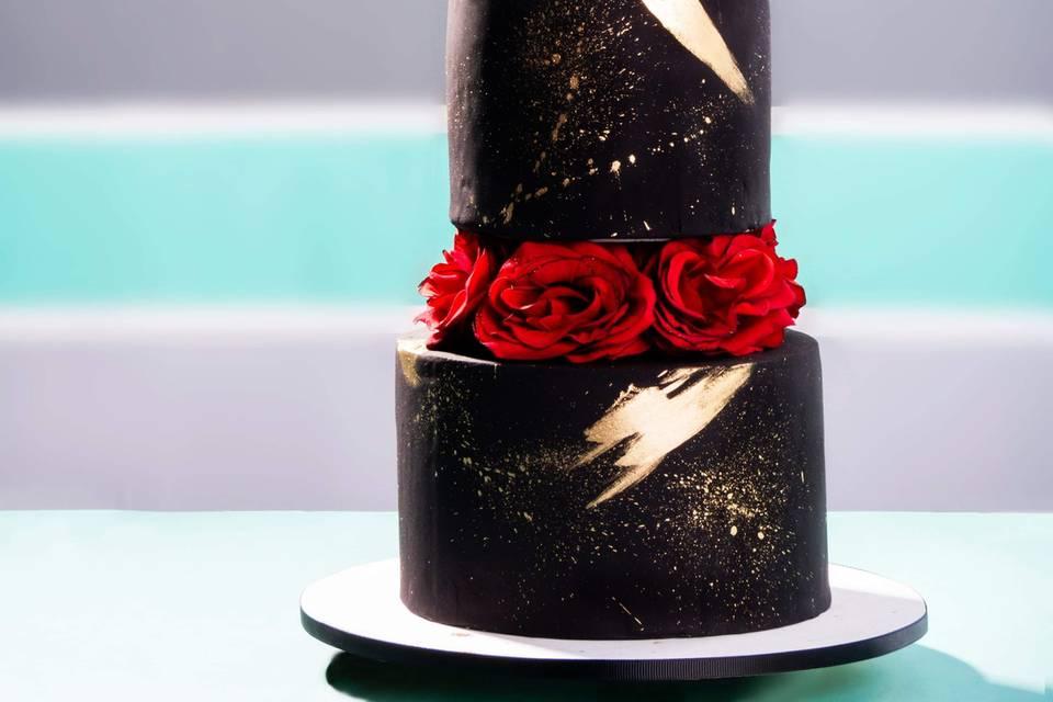 Pastel negro elegante