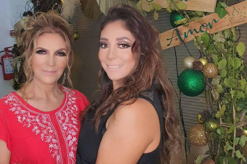 Mama e hija maquillaje