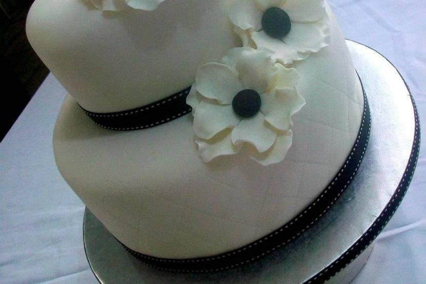 Pastel con flores