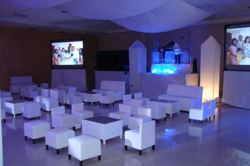Iluminación en salas Lounge
