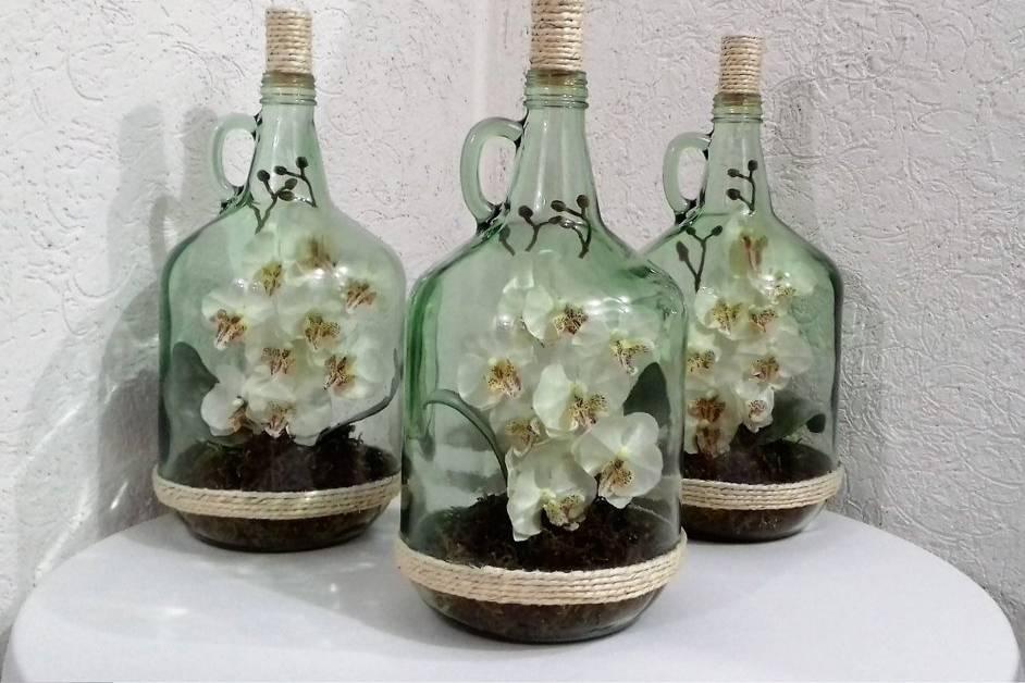 Centro de mesa de orquídea