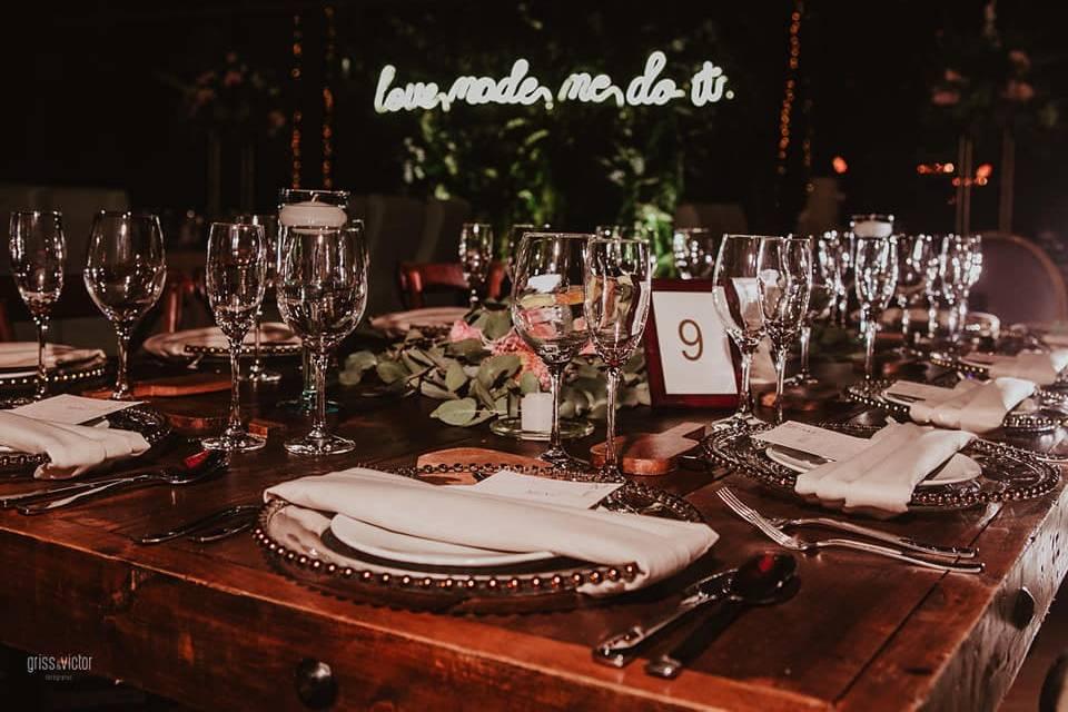 Detalle de la mesa