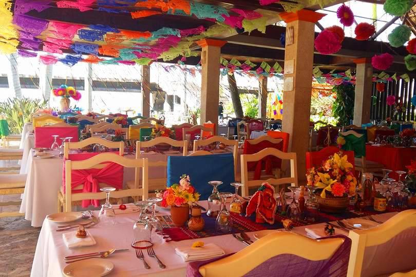Cena de boda, fiesta mexicana