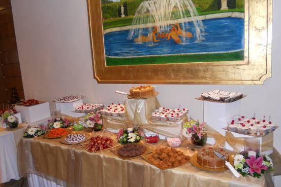 Barra de postres y caramelos