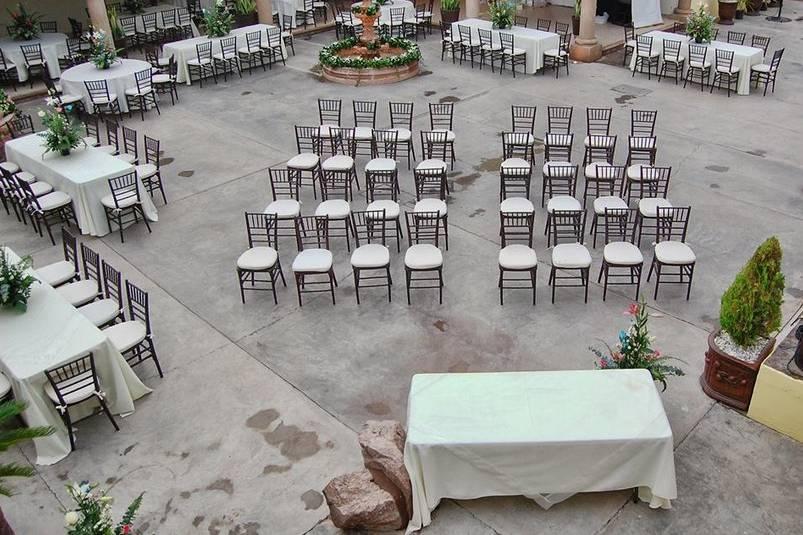 Área de ceremonia y celebración