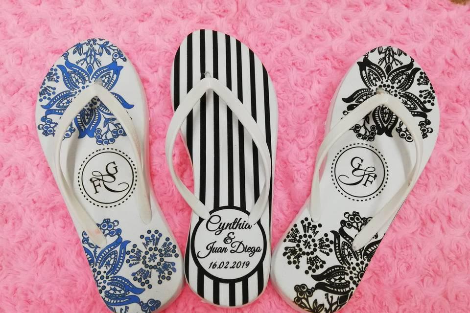 Sandalia personalizada boda