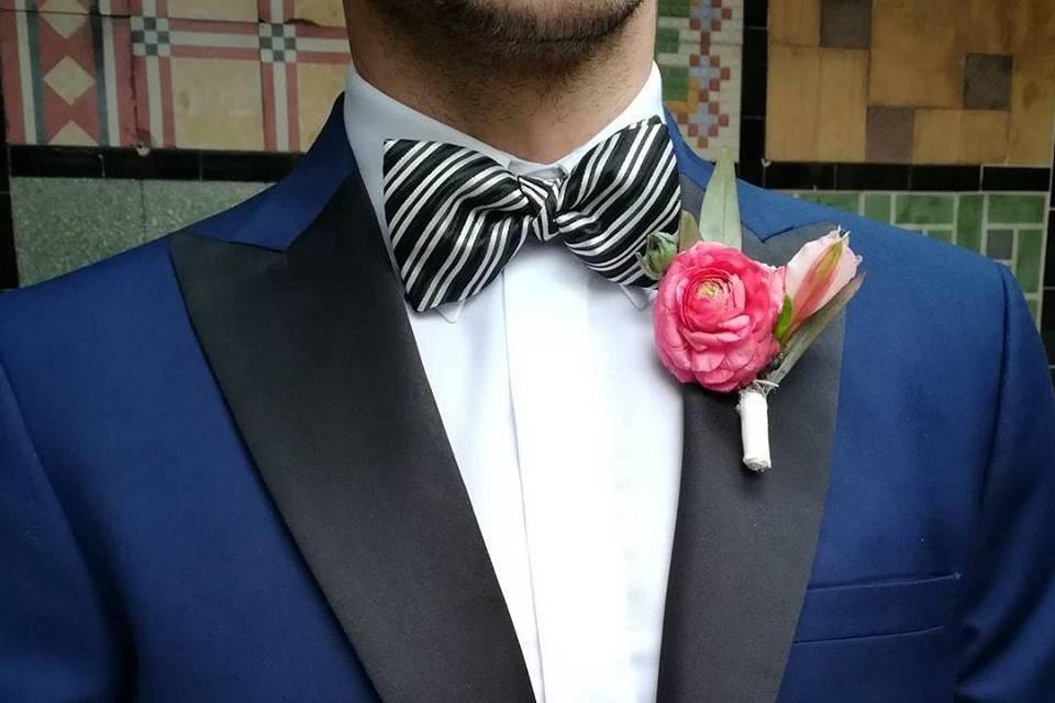 Smoking azul cobalto